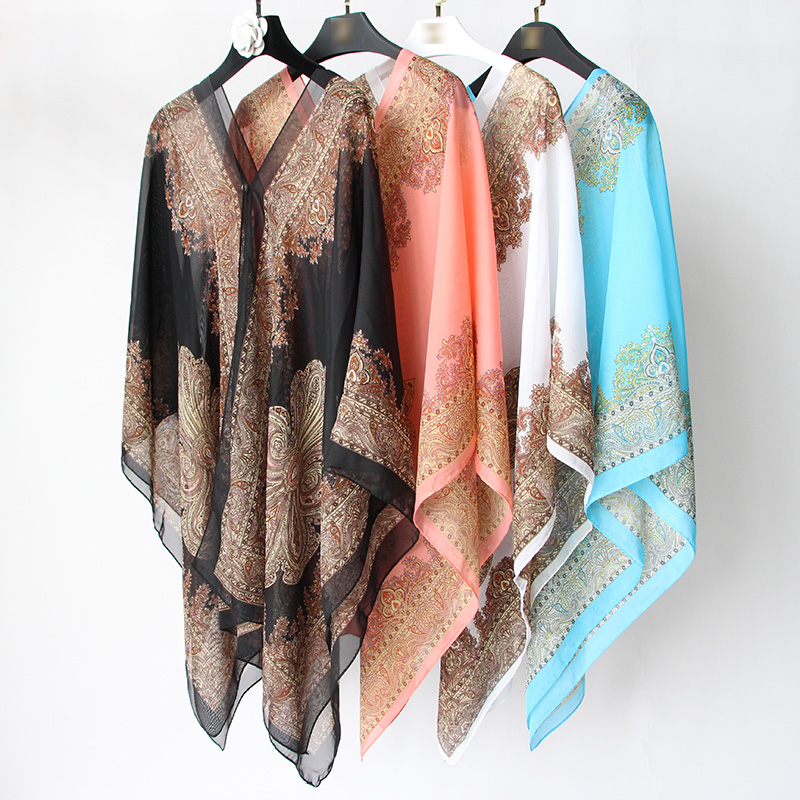 Лето разнообразие шаль шарфы многофункциональный магия шифон солнцезащитный крем шаль мисс приморский песчаный пляж полотенце шарф путешествие