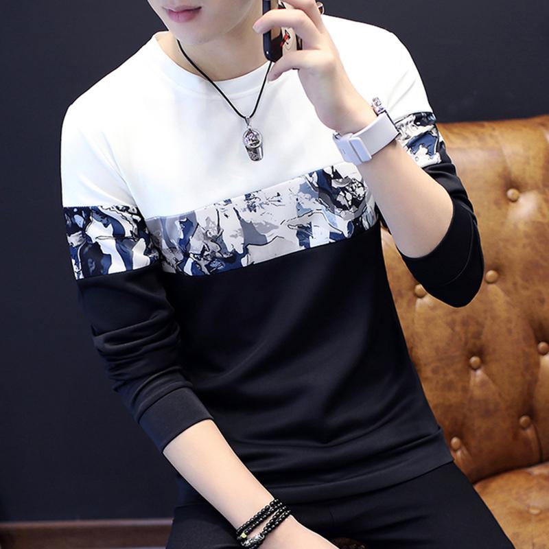 長袖T恤男款青少年修身衛衣春裝小衫男裝上衣服潮外套打底衫