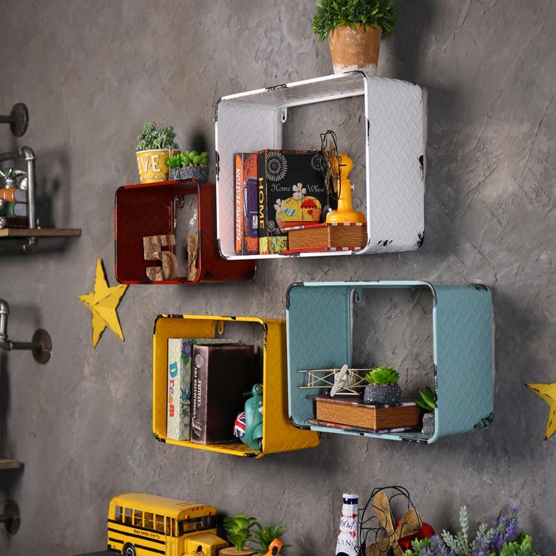 複古鐵藝工業風置物架家居房間牆麵牆壁裝飾壁掛店鋪牆飾 懷舊
