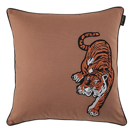 bailand 0392老虎贴布绣花全棉样板房腰枕抱枕沙发靠垫抱枕套
