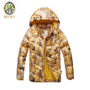 青蛙王子童装男童羽绒服特价清仓中大儿童短款外套加厚冬季新款潮