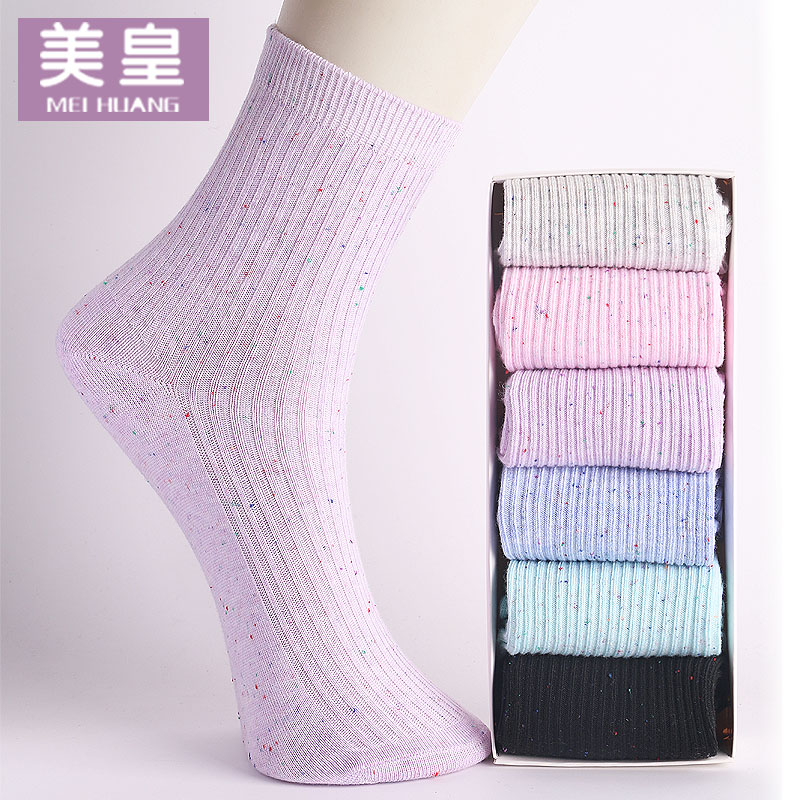 襪子女 款棉襪中筒襪女襪韓國女士襪子純棉 純色 襪