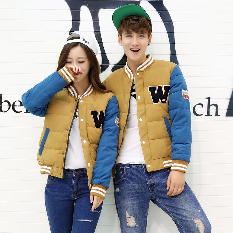 Горячая осень моды 2015 бейсбол Хлопок одежда пальто Корейский самостоятельной пары, мужчины и женщины вниз пальто потоки от Kupinatao