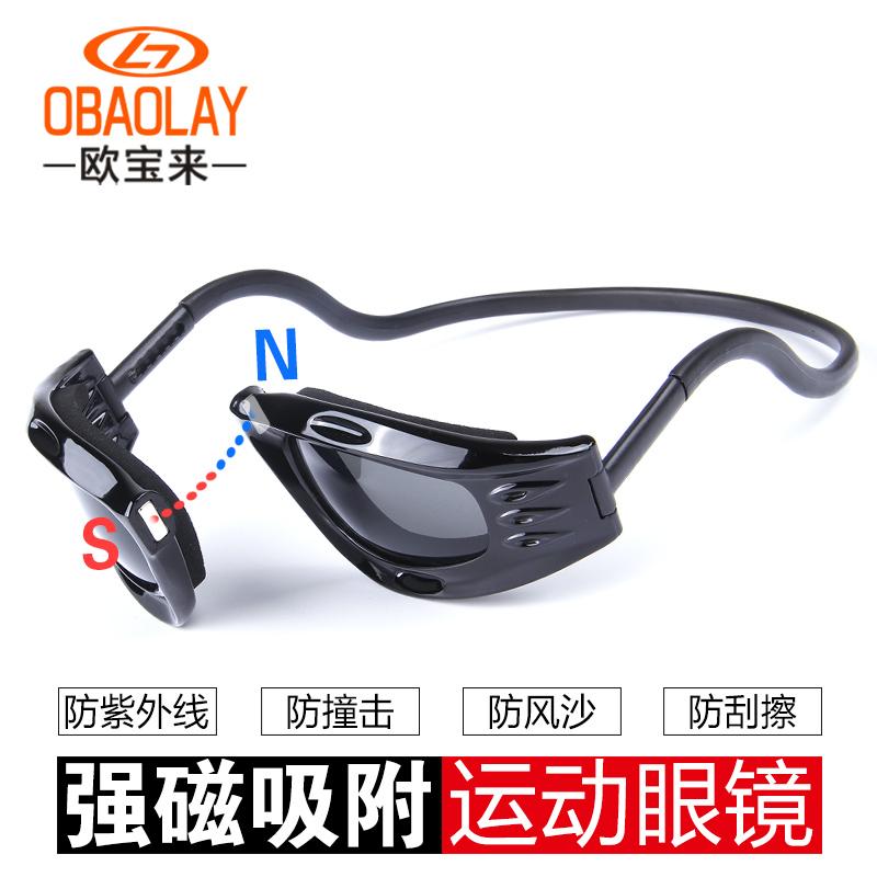 防風騎行眼鏡防霧護目鏡磁扣防塵防風沙防護跑步摩托車騎車風鏡男