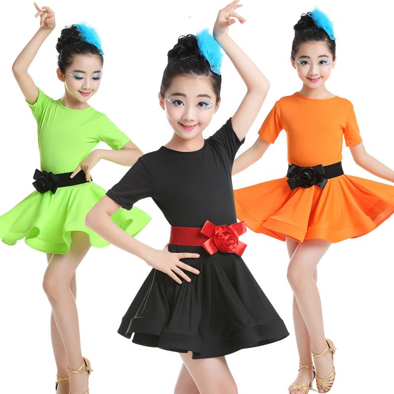 萬聖節兒童拉丁舞服裝女童幼兒園芭蕾舞裙練功服衣服舞蹈服演出服