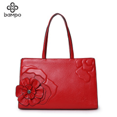 Bampo Banpo decorated fall/winter 2014 new female baodan trend of the counter ladies genuine leather shoulder bag