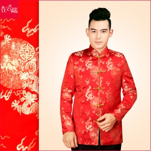 Men s costume Chinese men s dress and groom wedding dress costume Xiu clothing costume bridegroom toast clothing 3014