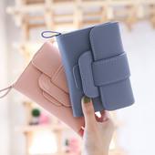 梨花娃娃女士钱包女短款多功能学生韩版可爱小清新折叠手拿包新款