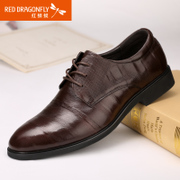 Red Dragonfly leather men's autumn new business suit tie wear comfortable shoes popular with men's flat shoes