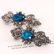 Know Connie hair Korea cross retro hair clip hairpin clip encrusted classical court head spring clip ponytail holder accessories