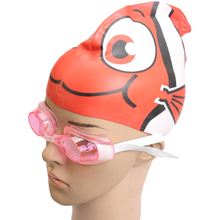 Special goggles suit children The boy girl waterproof anti-fog swimming goggles Send ear nose clip The goggles props