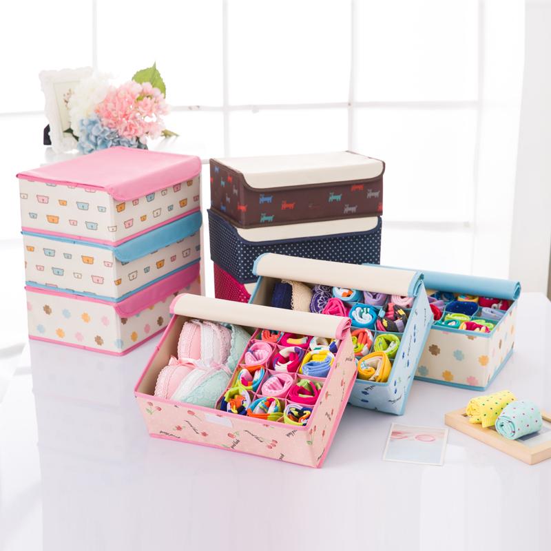 Стирающийся буйвол тяньцзинь ткань для хранения белья коробка бюстгальтер трусы носки разбираться коробка для хранения покрытый рабочий стол в коробку