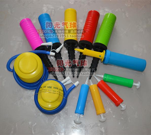 Детей руки толкать насос педали стиль насос плавать круг воздушный шар насос надувные мяч инструмент насос для шин игрушка