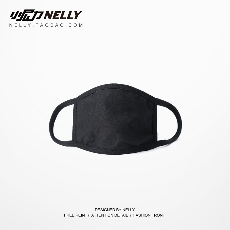 男女韩版纯棉暗黑冬季个性黑色情侣嘻哈复古口罩保暖透气高街潮图片