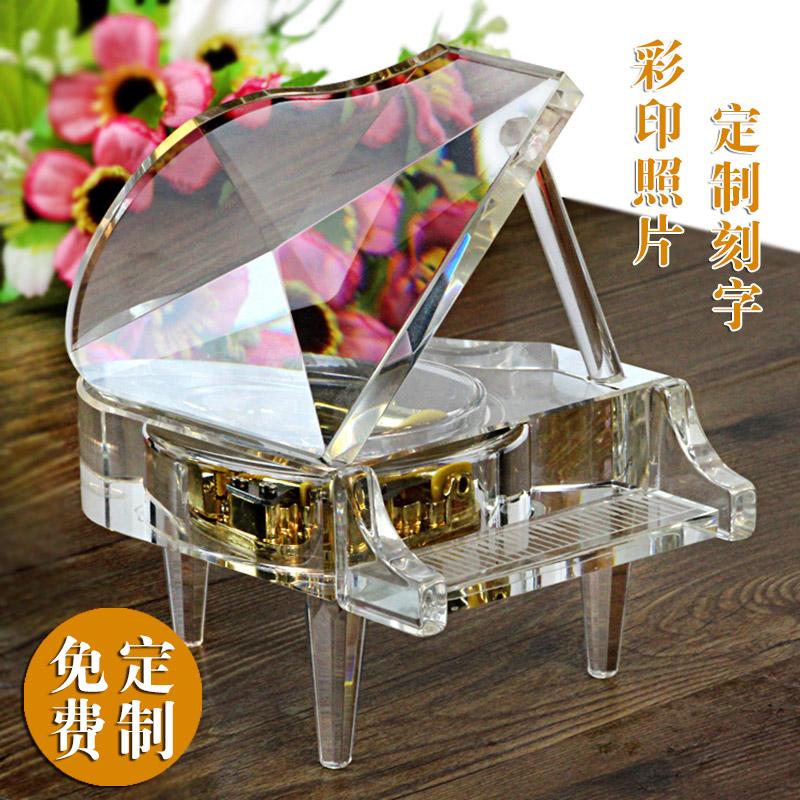 Кристалл пианино музыкальная шкатулка шанхай, пекин, тяньцзинь надпись музыкальная шкатулка день рождения подарок творческий женщина сырье друг день святого валентина специальный подарок