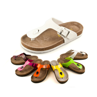 Xia Jiping with transparent muffin slippers sandals flip flops cork couple solid adhesive shoes shoes