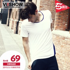 Viishow short sleeve t shirt men's breathable simple casual Summer short t t men t slim solid color trendy man new