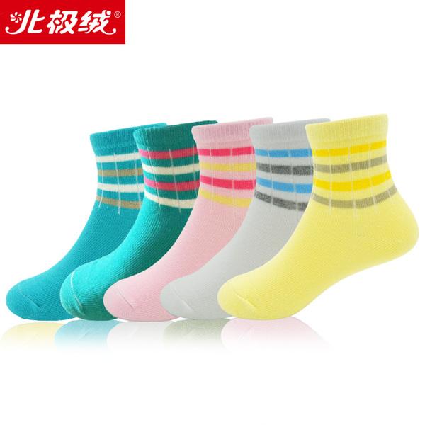 5双装北极绒新品童袜儿童秋冬精梳棉袜袜子纯棉男童女童宝宝短袜