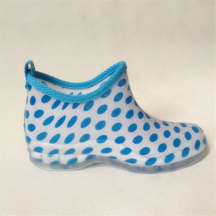 Кусто Барселона простой решетки сада низкой трубки сапоги женской моды работы обуви резиновые сапоги дождя сапоги калоши воды Японии