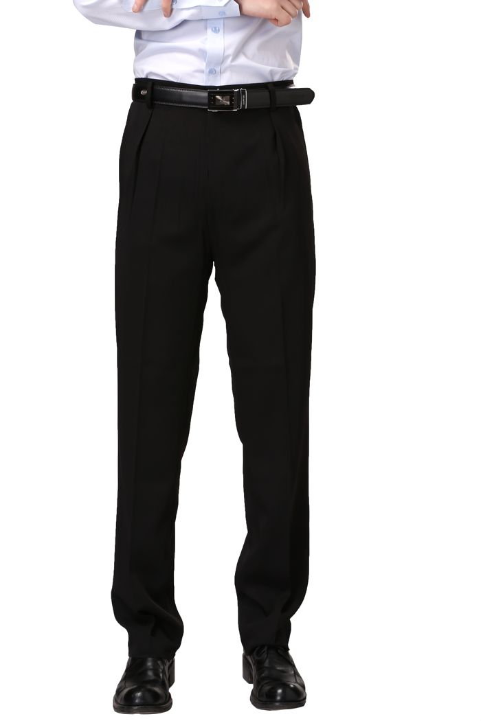 Mens trousers, work clothes, professional mens Navy black business suit, easy to wear, slim pants, woodpecker