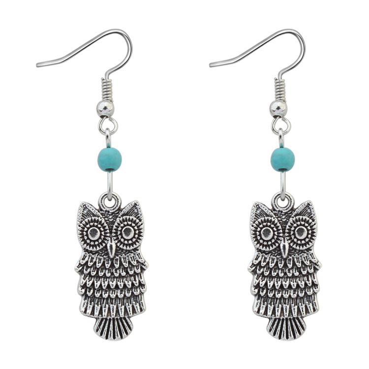 Leisure home accessories 1704 accessories supply Korean manufacturers Korean European and American fashion cute Owl Earrings