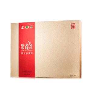 紫鑫红 即食鲜人参蜜片原味皂苷 东北特产参片 礼盒100g 包邮