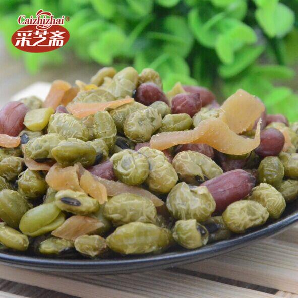 临安特产 笋丝青豆花生 笋丝青豆 笋干青豆   特价7.3元 250g