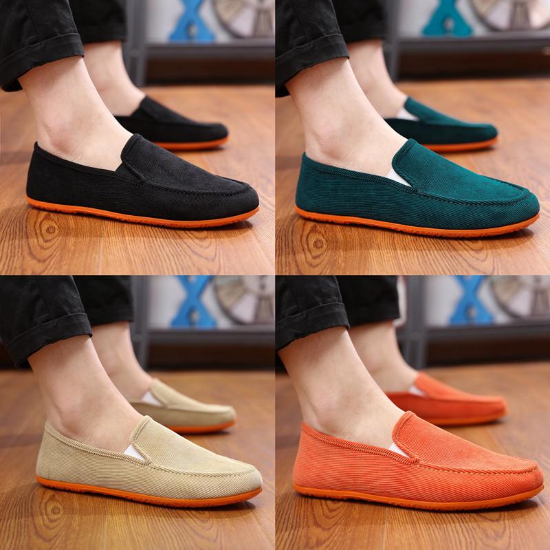 Кондиционер мужской старый пекин холст обувь мужчина корейский обувь обувь casual ножной футляр привод автомобиль бездельник обувной мужчина ткань обувная
