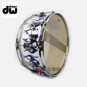 春雷乐器 DW 收藏家 Graphics Custom 手绘蓝火焰 14x6 军鼓