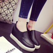 Spring 2016 the new increase in the Korean version of the invisible student Le Fu, thick-soled platform shoes shoes shoes women shoes