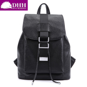 DHH Europe new cattle skin and simple woman bag backpack outdoor sport and leisure baodan shoulder bag shoulder bag