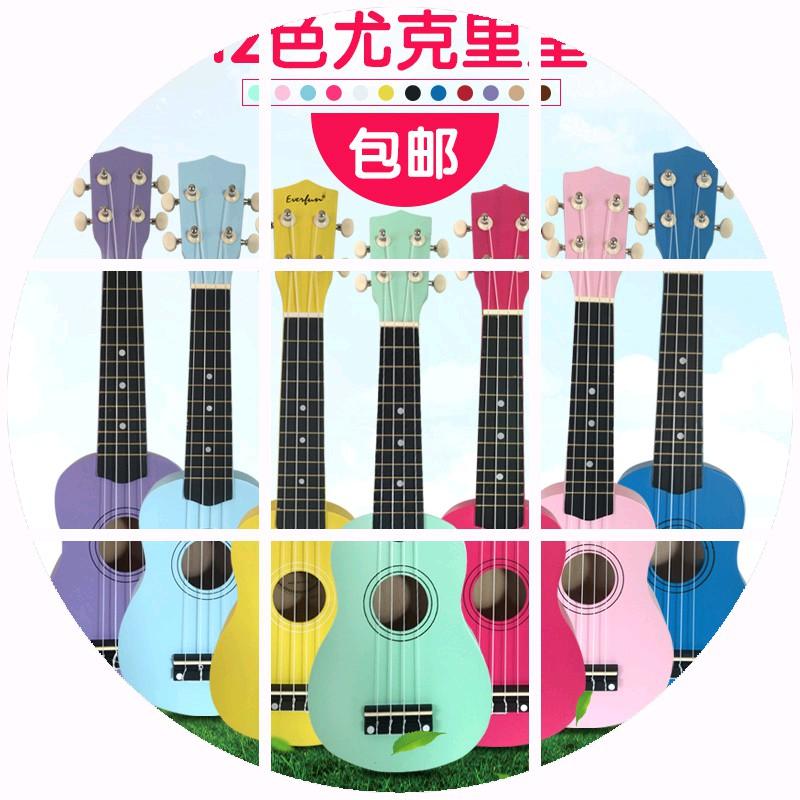 Бесплатная доставка 21 цветной особенно керри в ukulele черный грамм корея корея гавайи четыре аккорд небольшой гитара