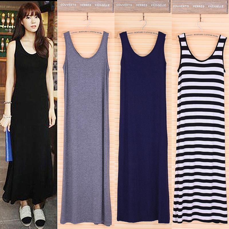 Новые корейские длинные юбки платье Весна/лето 2016 Европе модальных сарафан Бохо долго цельный платье