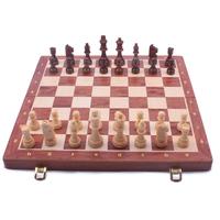 Полноценный большой размер детей дерево шахматы установите chess собирать подарок орех шахматная доска