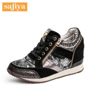 Safiya/Sophia 2015 winter cow suede high heel colors spell high help shoes SF53112016