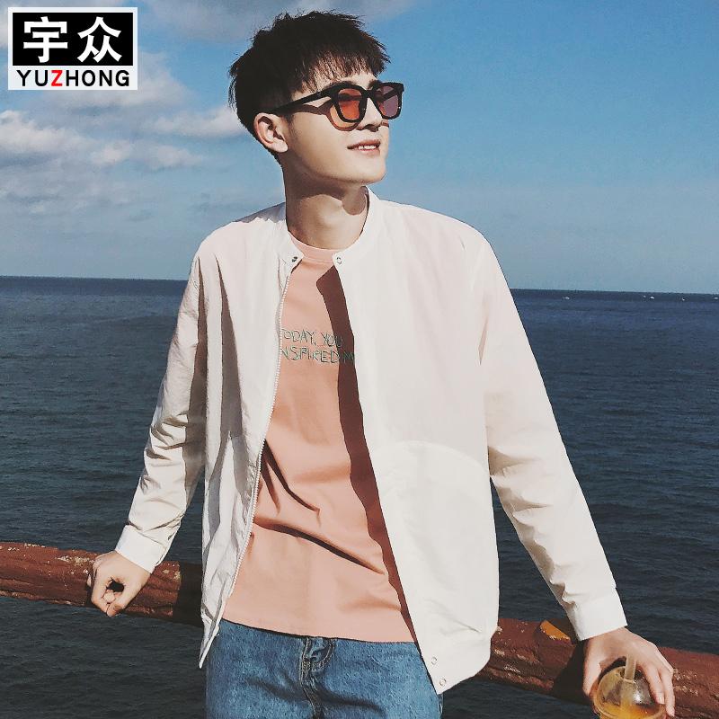 春夏季外套棒球服潮流学生韩版薄款运动服男装修身夹克衫开衫褂子