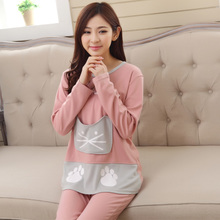 Autumn and winter pajamas suit students the spring and autumn period and the model of long sleeve cotton leisurewear. Lady girl cute pajamas all cotton