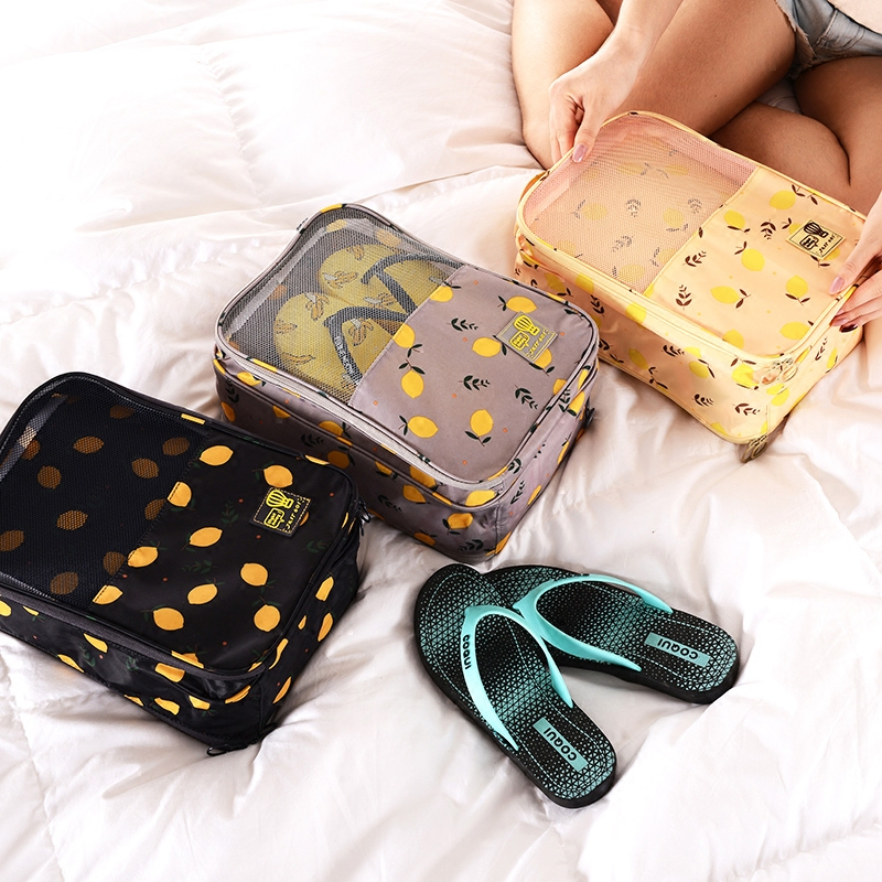 Путешествие обувь чистый черный мешок платье мешок обувь, сумки движение геометрическом пыль обувной крышка влагостойкий обувной пакета
