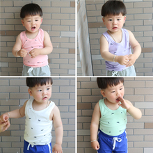 Children h vest 2015 new tide pure cotton shirt baby children's wear casual joker summer wear boy's Europe and the United States