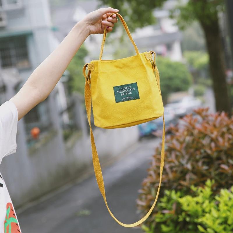 糖果帆布小包包学生夏季韩系新款马卡龙百搭帆布女包复古文艺范包
