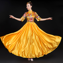Opening Dance Dresses New Chinese Style Dresses National Dance Dresses Long Dresses Chorus Performance Dresses Female Adults