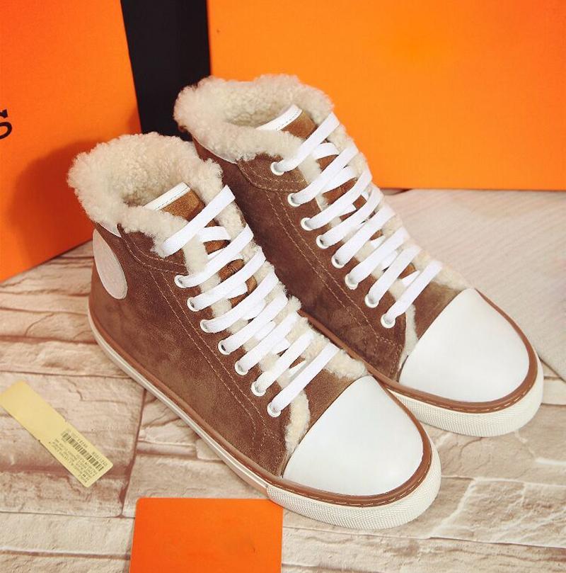 Европа 2015 новый ремень плоский Повседневная обувь осень/зима и кашемировый теплый обувь высокая помощь анти-занос обувь женская обувь