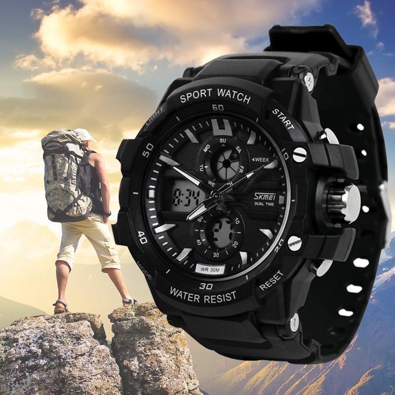 Соединенные Штаты спортивные электронные часы Мужские студент многофункциональный водонепроницаемый часы skmei двух детей Открытый Мужские Часы