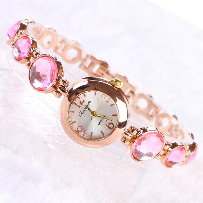 正品牌包邮 石英女表镶钻 手表满钻 时尚水晶 时装表 手镯表 防水