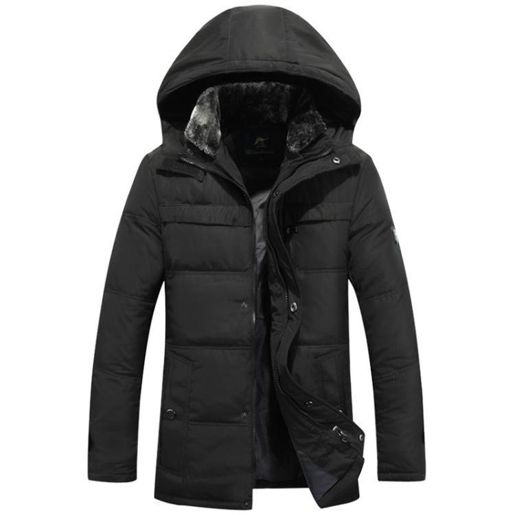 Старый вниз Куртка мужская мягкий подлинной Распродажа среднего папа в пожилом возрасте в длинные зимние пальто на продажу