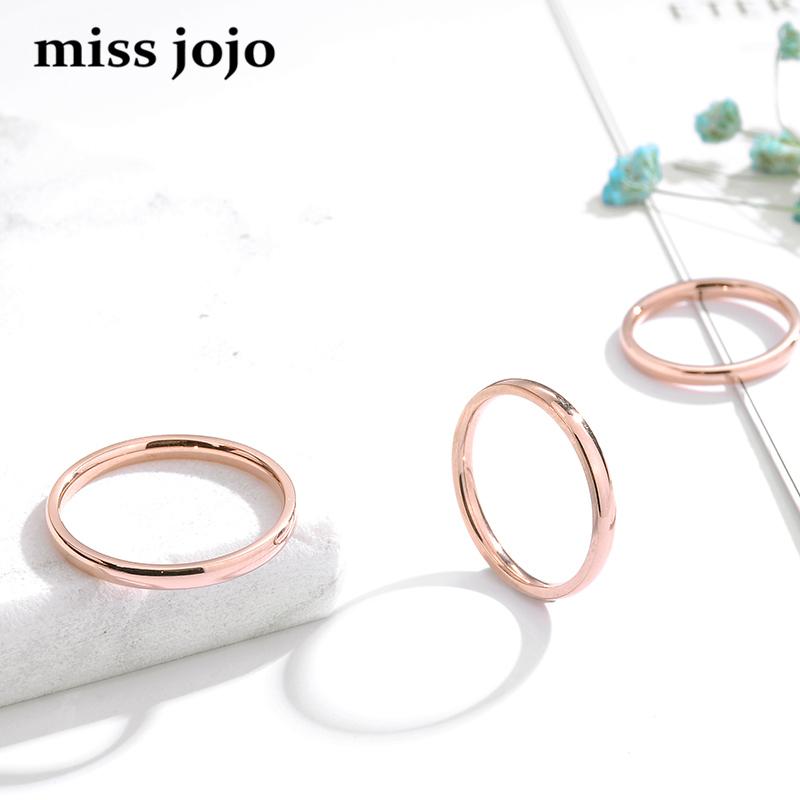 简约韩版光板光面细款镀玫瑰金钛钢叠戴尾戒指环男女情侣款韩国