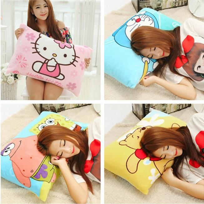 可爱hellokitty珊瑚绒空调毯单人学生枕套可拆洗卡通毛毯可爱床单