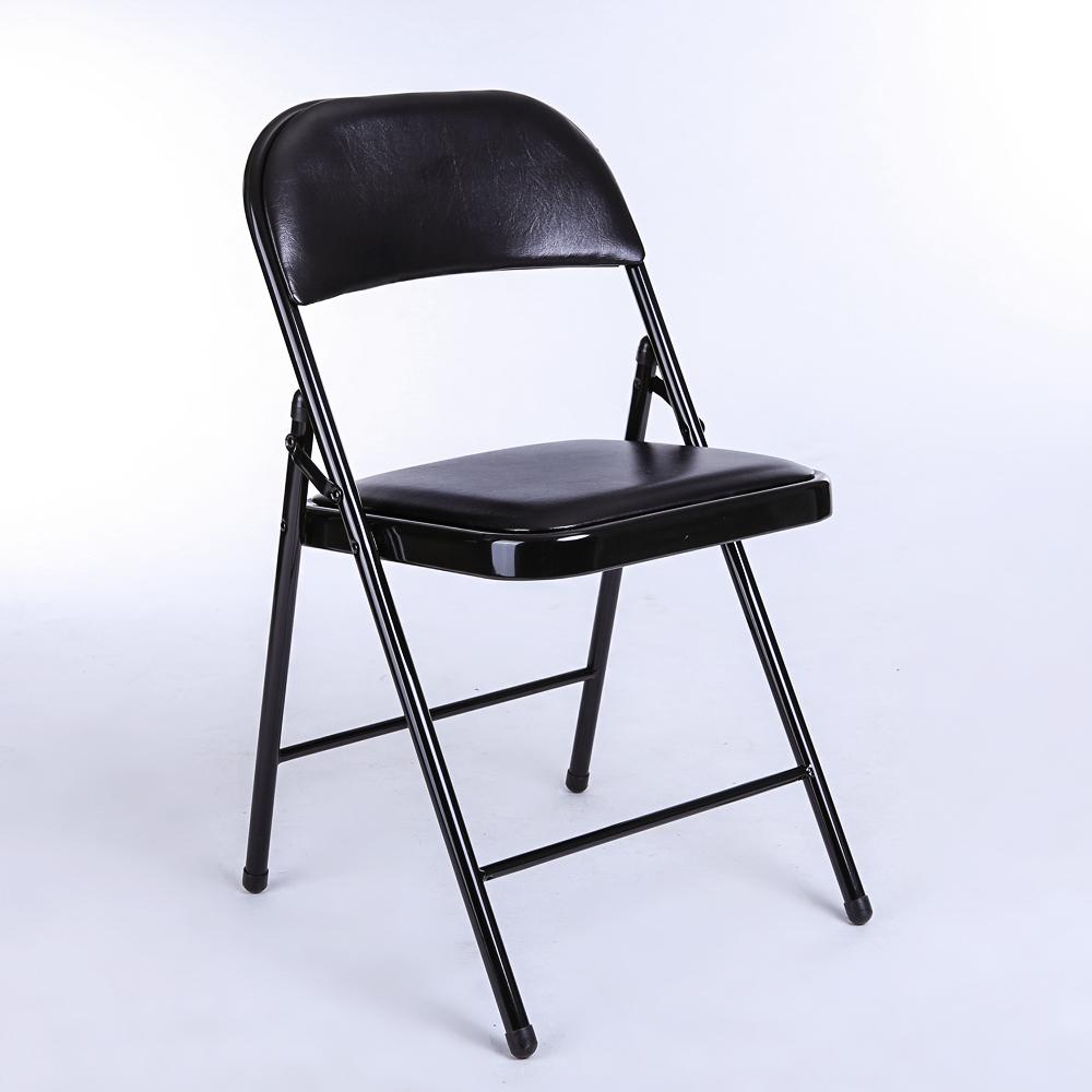 悅目林 折疊皮革會議椅靠背辦公椅職員電腦椅培訓椅職員椅子3022