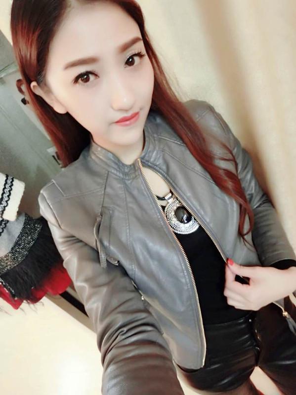 Nanxingbuye 2020 spring Pu womens leather jacket stand collar short slim versatile leather jacket motorcycle leather jacket