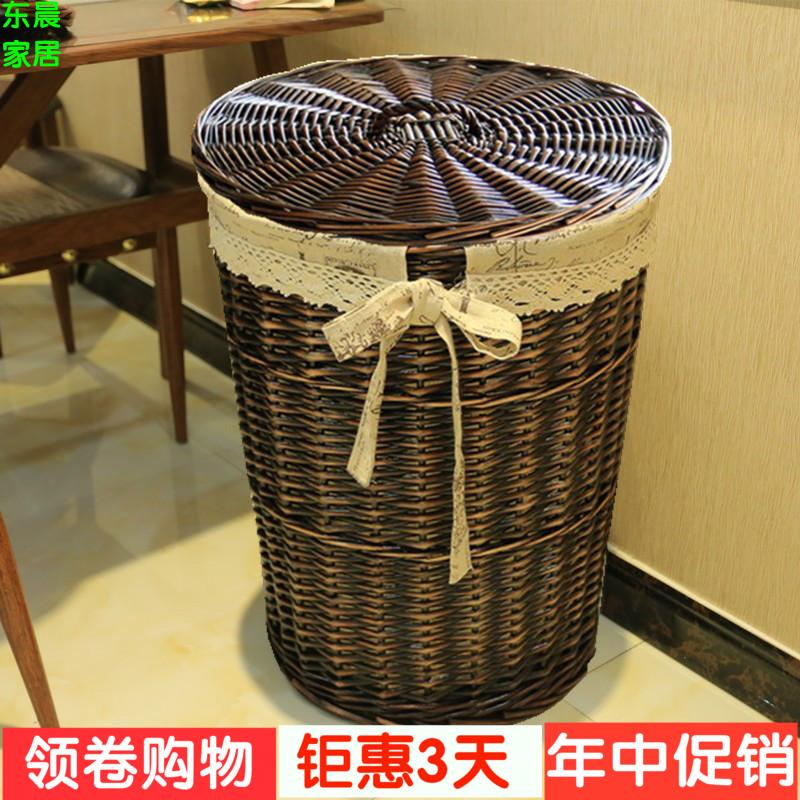 Грязный одежда корзина ротанг грязный одежда корзины ива компилировать одежда хранение баррель грязный одежда одежда хранение корзина покрытый игрушка ящик